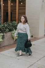 Load image into Gallery viewer, Prairie High-Low Skirt in Teal