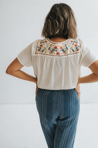 The Summer Embroidered Top
