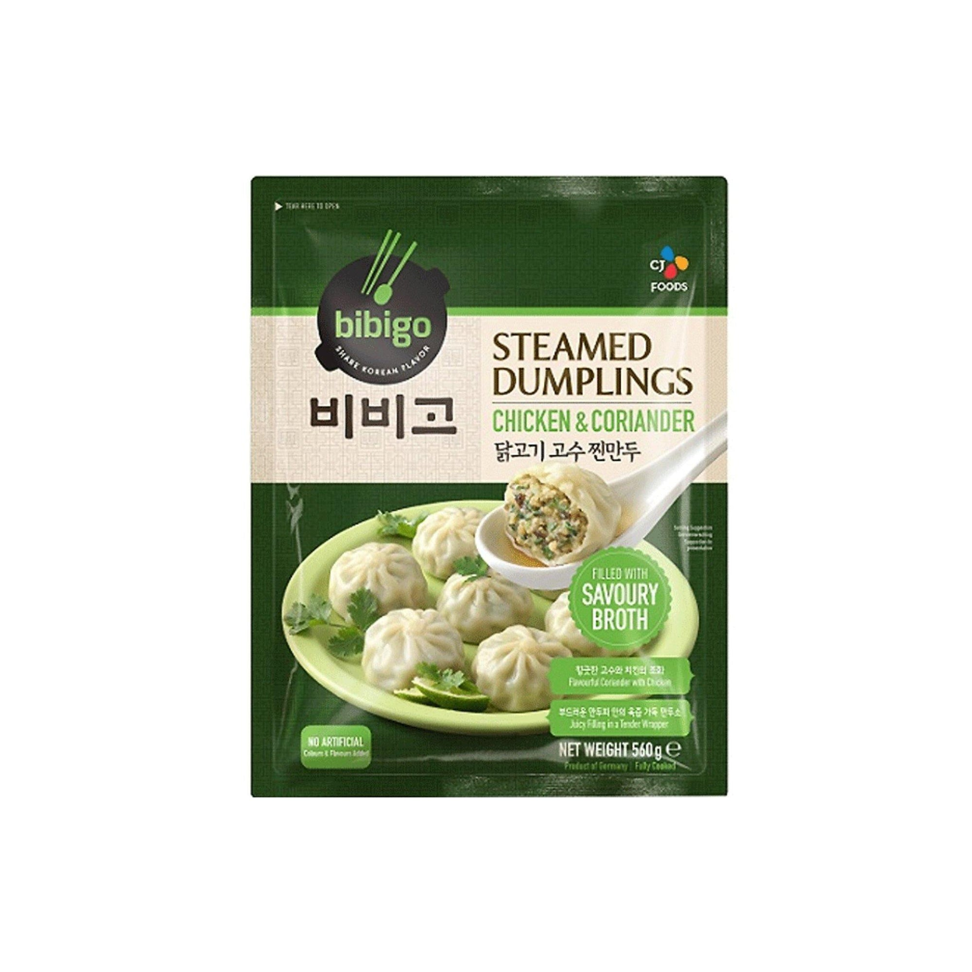 Bibigo Chicken and Coriander Steamed Dumpling 560G - Asian Harvest