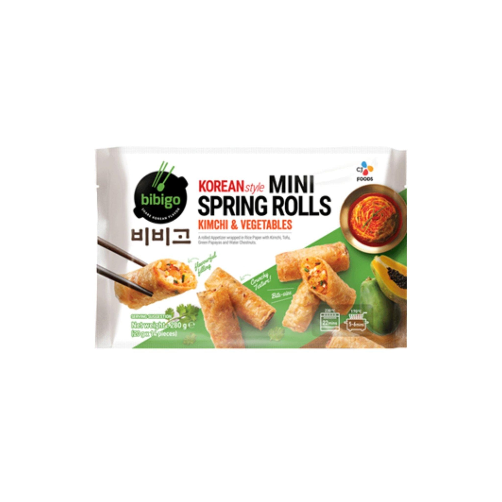Bibigo Kimchi and Veg Spring Roll 280G - Asian Harvest