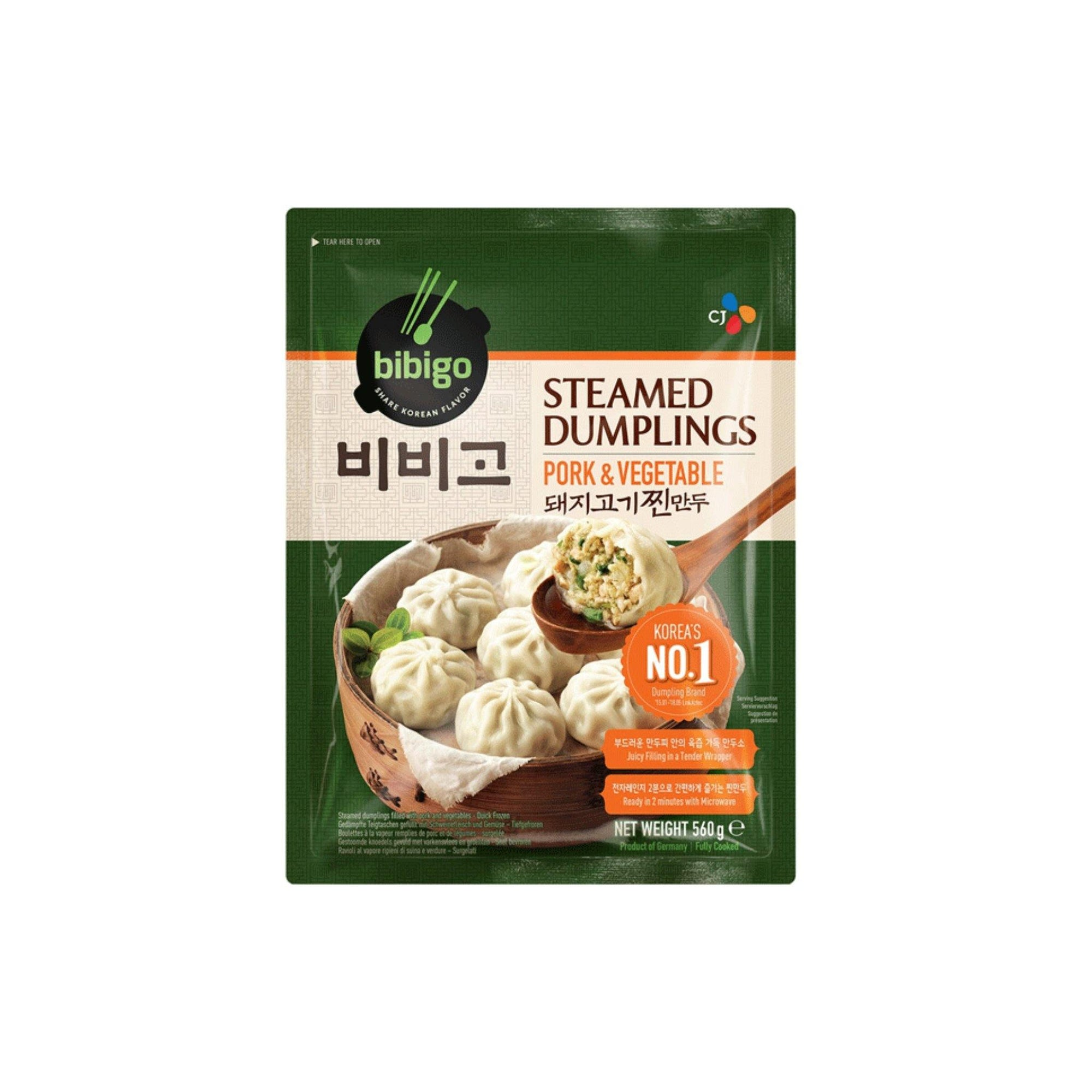 Bibigo Pork and Veg Steamed Dumpling 560G - Asian Harvest
