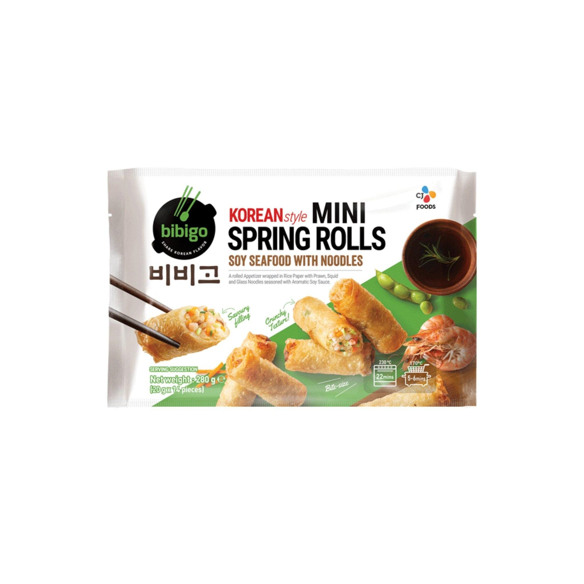 Bibigo Soy Seafoods with Noodles Spring Roll 280G - Asian Harvest