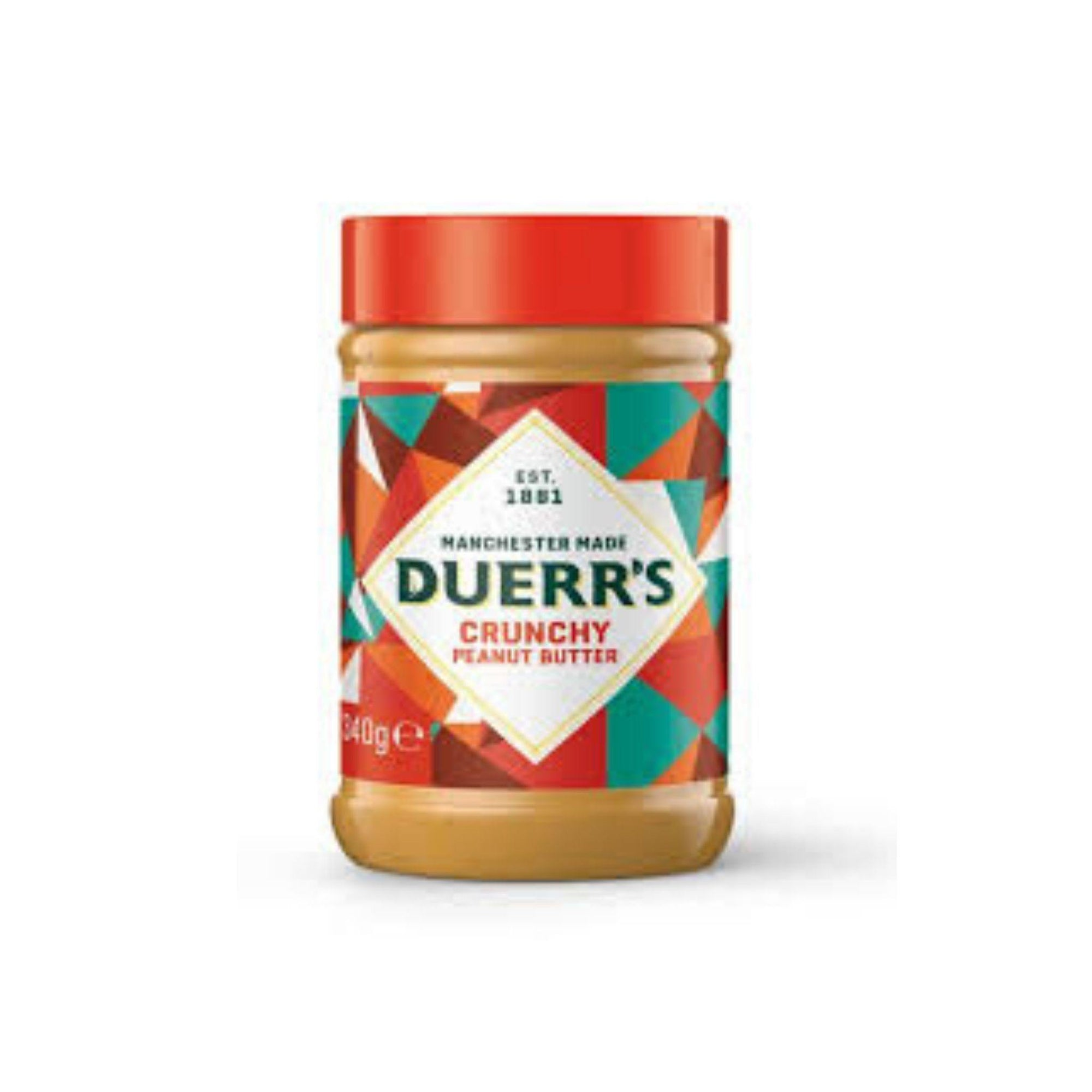Duerrs Crunchy Peanut Butter 340G - Asian Harvest