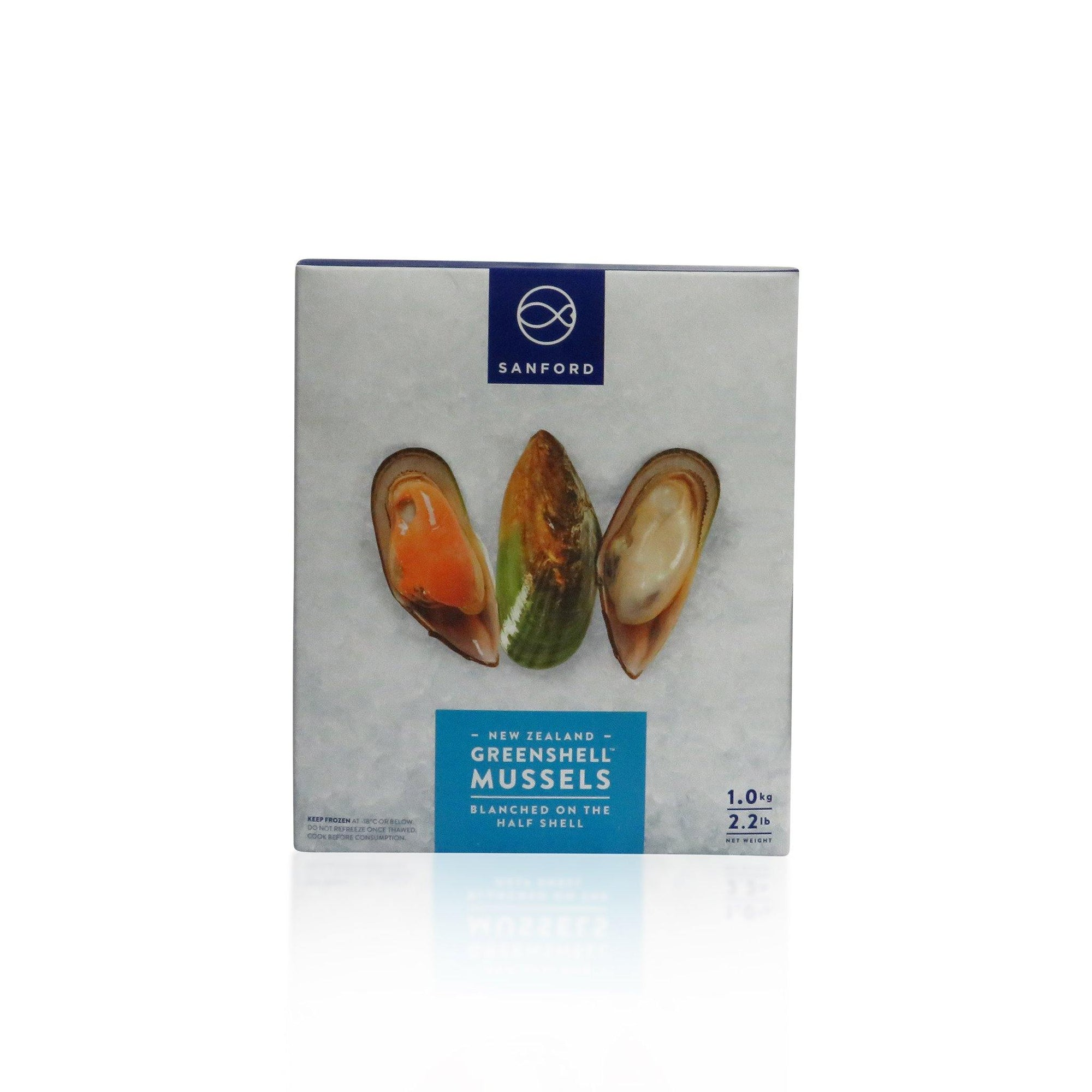 New Zealand Frozen Raw Mussles In Half Shell 1KG - Asian Harvest