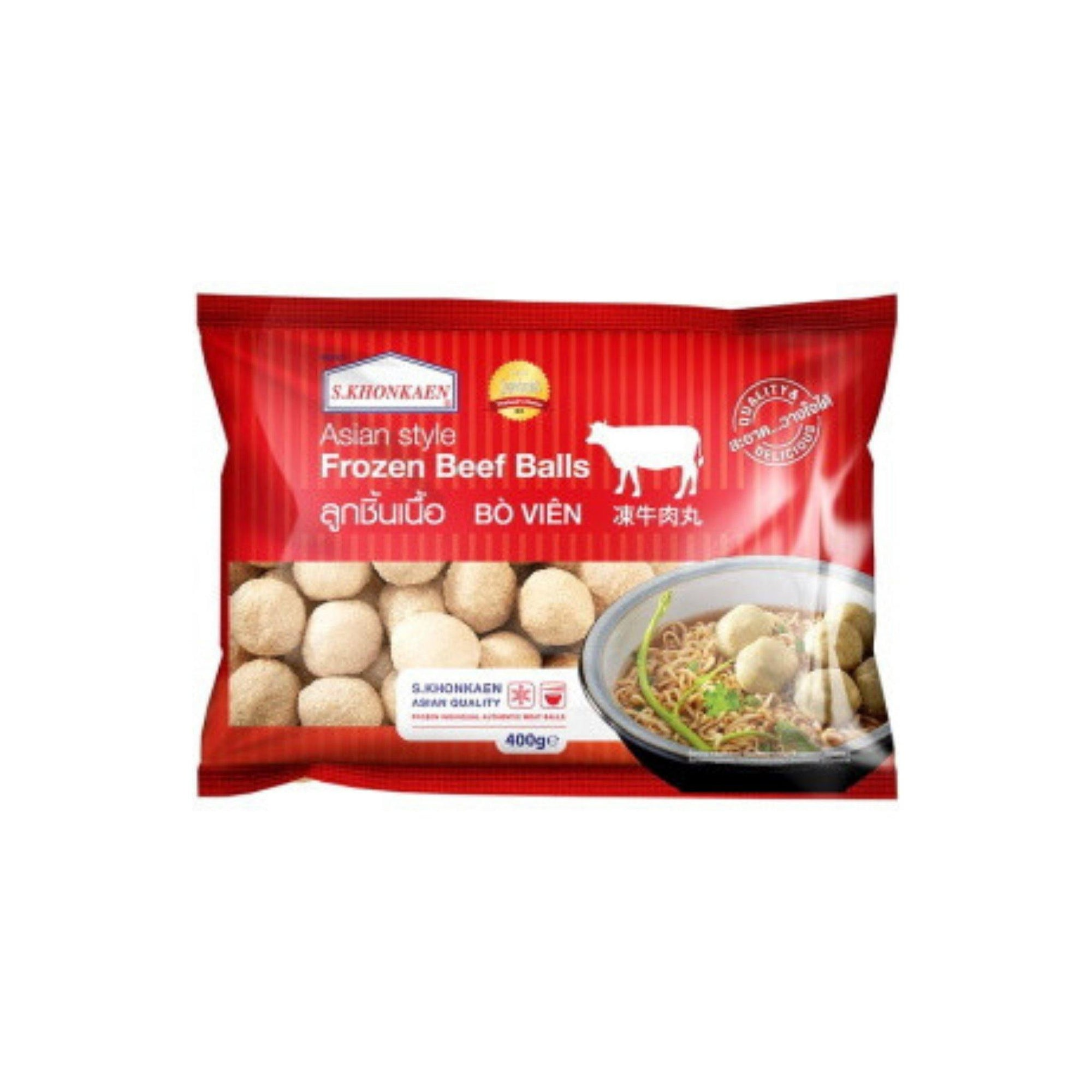 S. Khonkaen Frozen Beef Balls 400G - Asian Harvest