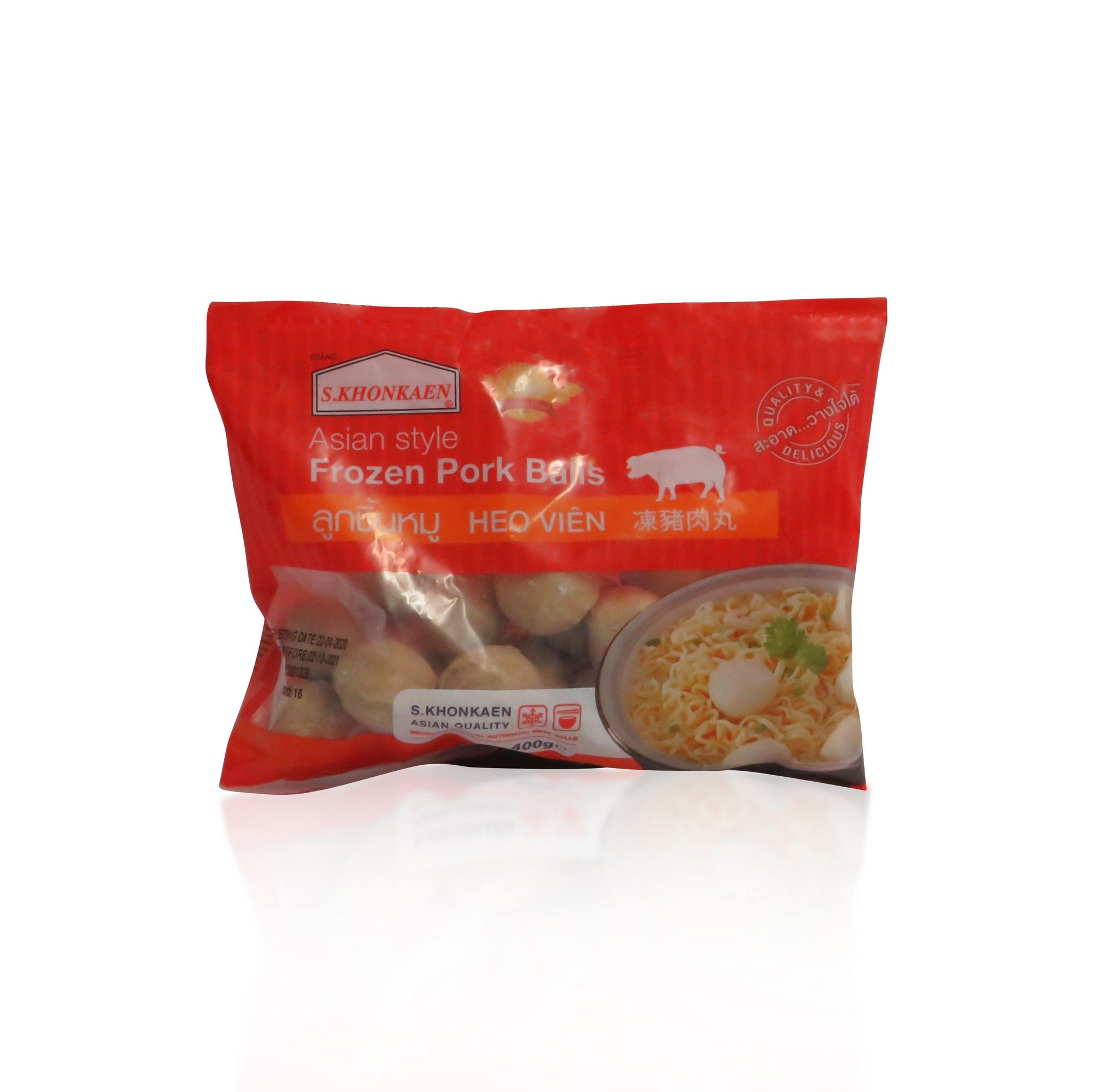S. Khonkaen Frozen Pork Balls 400G - Asian Harvest