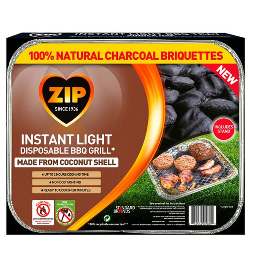 Zip Coconut Disposable Charcoal Bbq