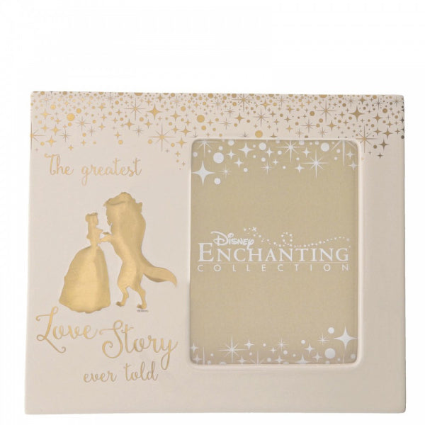 Enchanting Disney Belle Wedding Photo Frame
