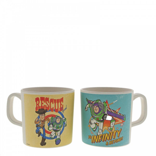 Woody and Buzz Bamboo Mug Set