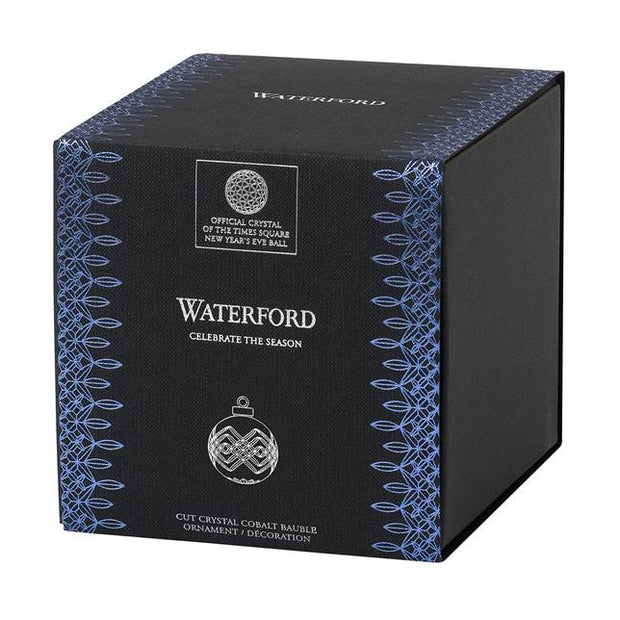 "Ball Ornament 3.8"" Sapphire by Waterford"