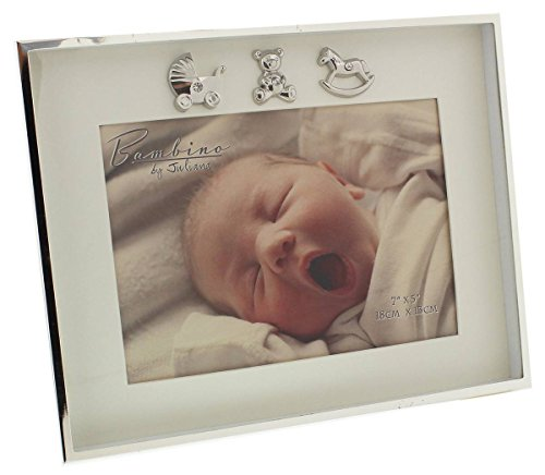 "Bambino Thin Silver Plated Photo Frame 7"" x 5"""