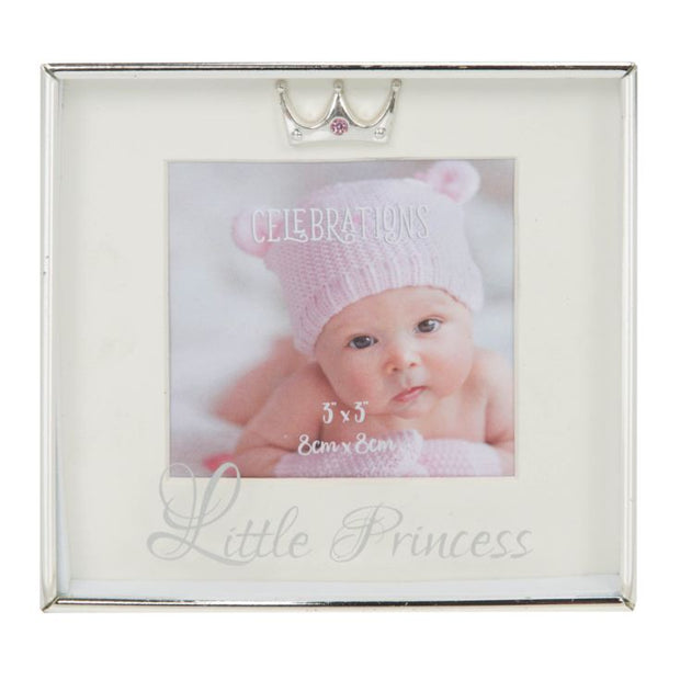 "Silver Plated Box Frame - Little Princess 3"" x 3"""