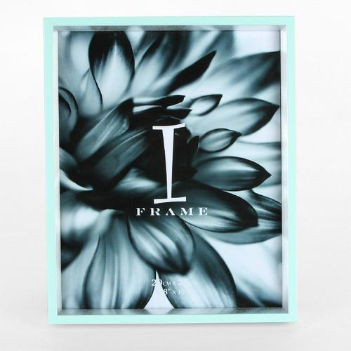 "iFrame Duck Egg & Silver Photo Frame 8"" x 10"""