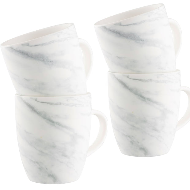 Marbled Tableware Collection - Four Mug Set