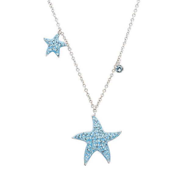 Swarovski Aqua Star Fish Necklace