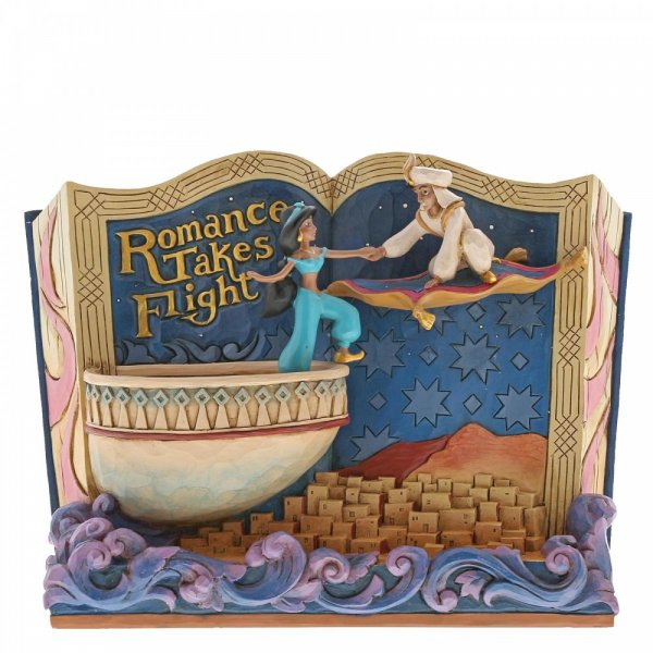 Romance Takes Flight Storybook Aladdin Figurine