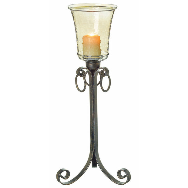 Lyndon Floor Hurricane Candle Holder Small