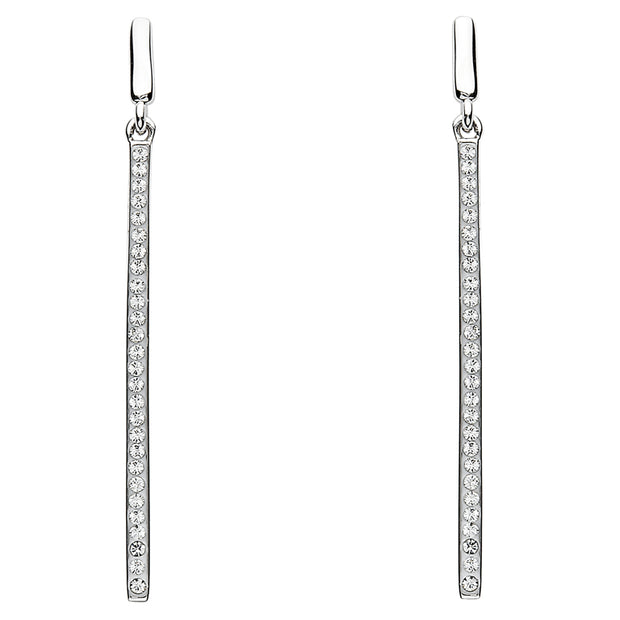 Silver Long Drop Earrings by ShanOre