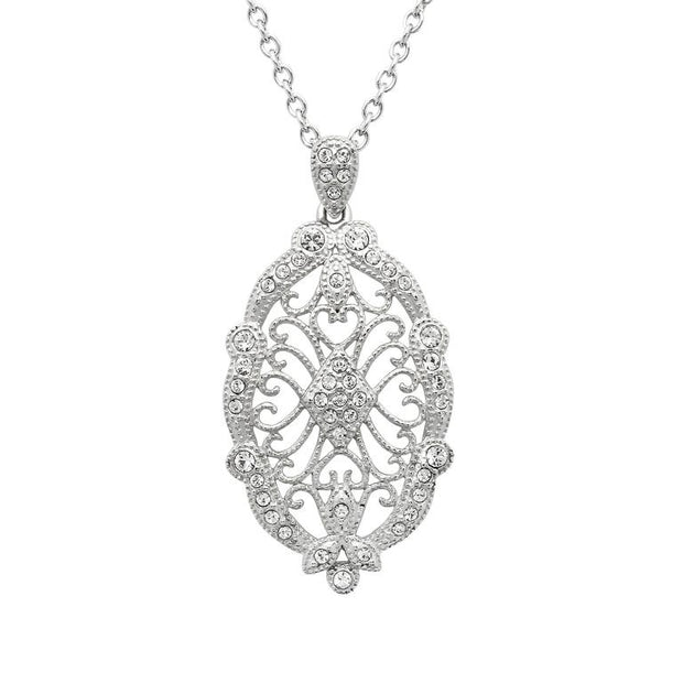 Irish Lace Sterling Silver Stone Set Pendant by ShanOre