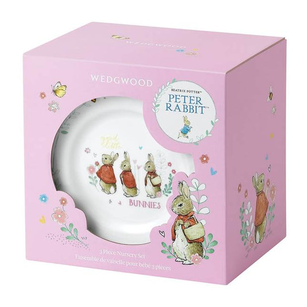 Peter Rabbit 3 Piece Flopsy, Mopsy & Cottontail Set – Pink