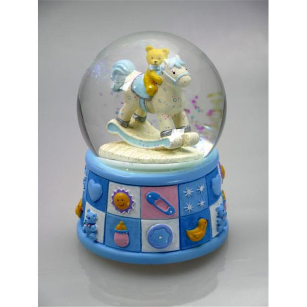 Snow Globe Bears Light Blue