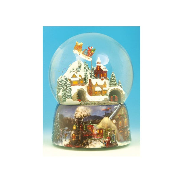 Snow Globe Santa and Train