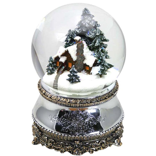 Snow Globe House in the Woods (Silver)