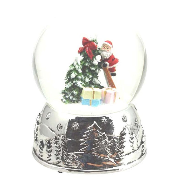 Snow Globe Santa on a Ladder