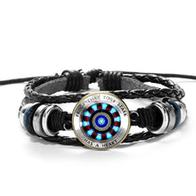Load image into Gallery viewer, Tony Stark Glass Arc Reactor Bracelet