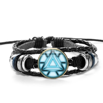 Tony Stark Glass Arc Reactor Bracelet