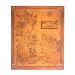 Game of Thrones Retro Westeros Map ( 42x36 )