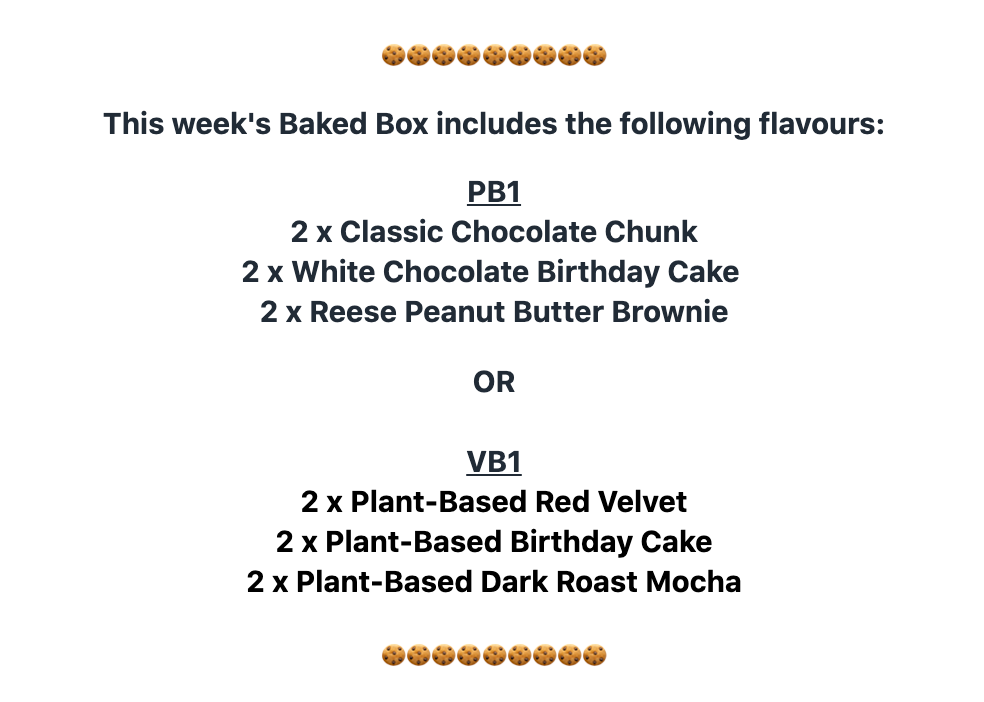6 Boxes of Baked Cookies for Preorder (Canadawide Shipping) Next ship date: March 8