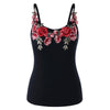 Embroidered Cami Sleeveless Plus Size 5XL - That Swag Tho