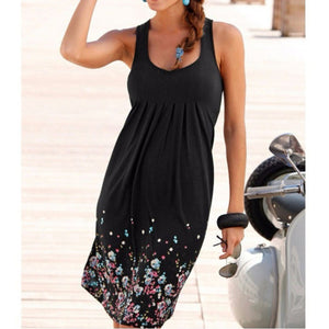 Plus Size Floral Print Beach Dress - That Swag Tho