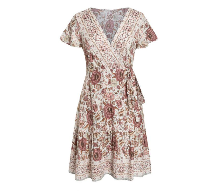 Bohemian floral mini dress - That Swag Tho