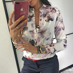 Elegant Casual Floral Print Blouse - That Swag Tho