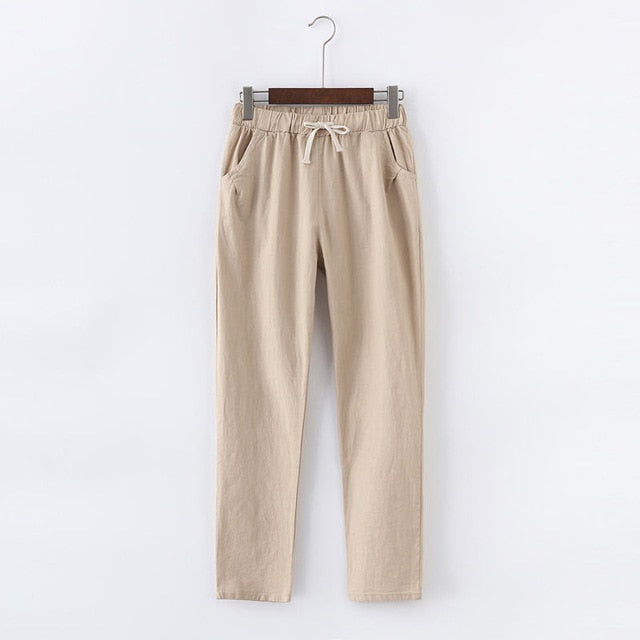 Lace Up Linen Pants - That Swag Tho
