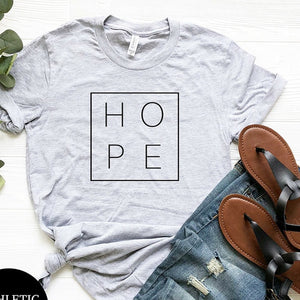 Women's Hope Print T-Shirt - That Swag Tho