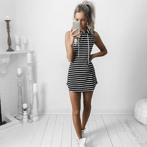 Stripe Dress Short Bodycon Casual Dress - That Swag Tho