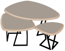 Charger l'image dans la galerie, STONE - Ensemble 3 tables basses