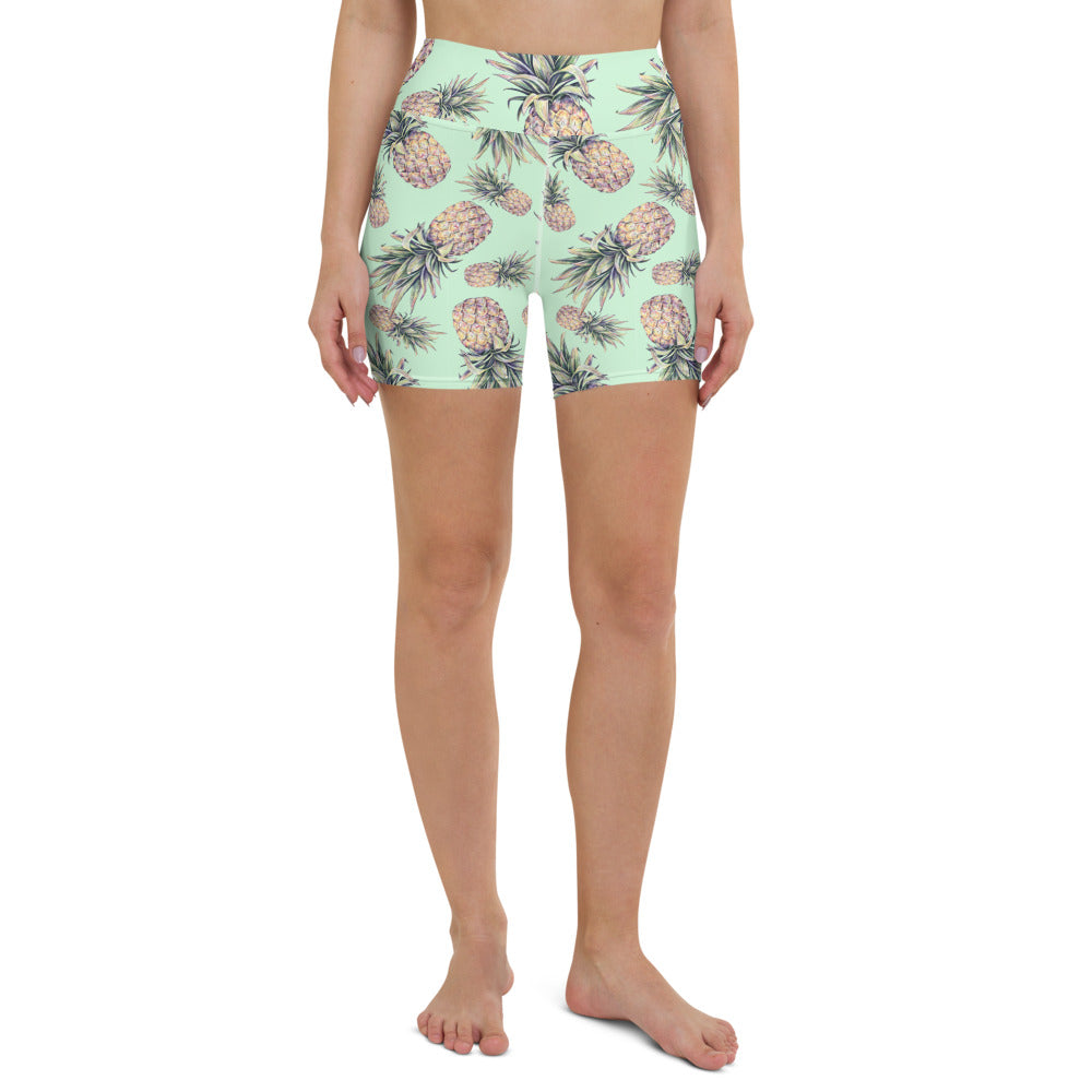 Pineapple Yoga Shorts