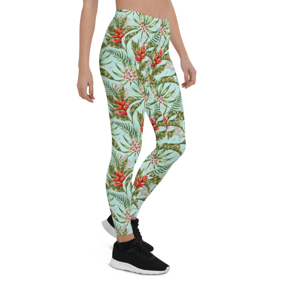 Tropical Watercolor Leggings