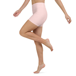 Pink Bubble Yoga Shorts