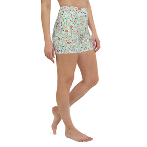 Folk Floral Yoga Shorts