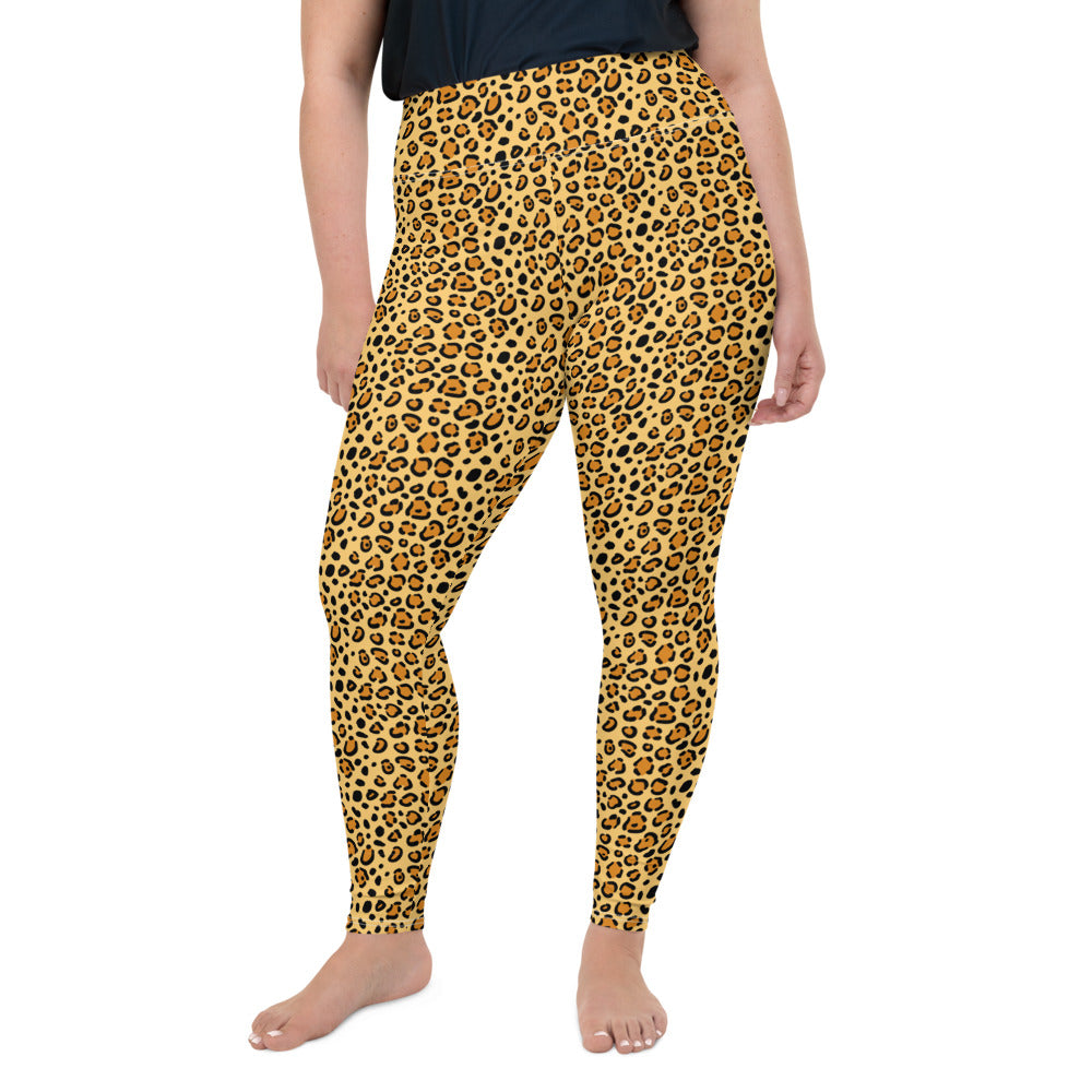 Leopard Spots Plus Size Leggings