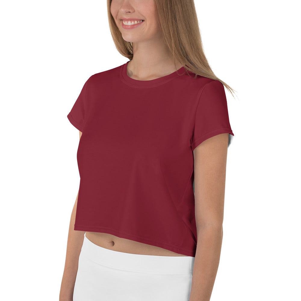 Solid Red Crop Tee
