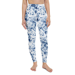 Blue Tie Dye Yoga Leggings