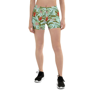 Tropical Watercolor Shorts