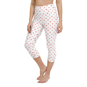 Heart Yoga Capri Leggings