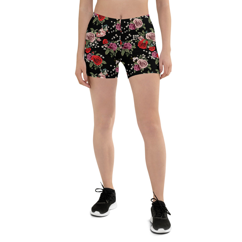 Red and Pink Roses Shorts